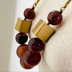 Banana Republic Chunky Necklace NWT Amber Brown